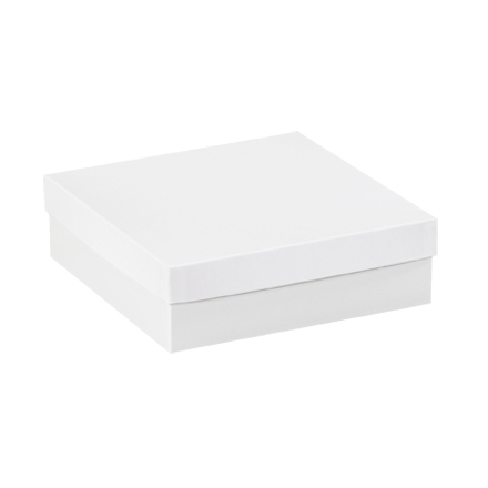 "10 x 10 x 3"" White Deluxe Gift Box Bottoms"