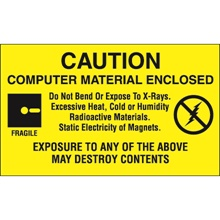 "3 x 5"" - ""Computer Material Enclosed"" Labels"
