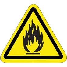 "2.25"" Triangle - Flammable Material Durable Safety Label"
