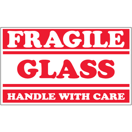 Impeccable image with fragile glass labels printable