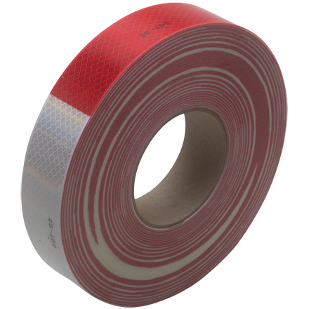 "2"" x 150' Red/White 3M<span class='tm'>™</span> 983 Reflective Tape"